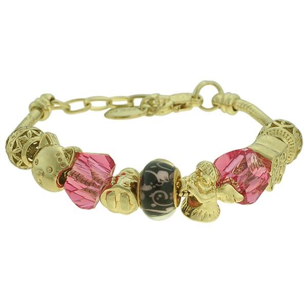 Pulseira Beloque Cristal Lesprit K03882-50650 Dourado Rosa
