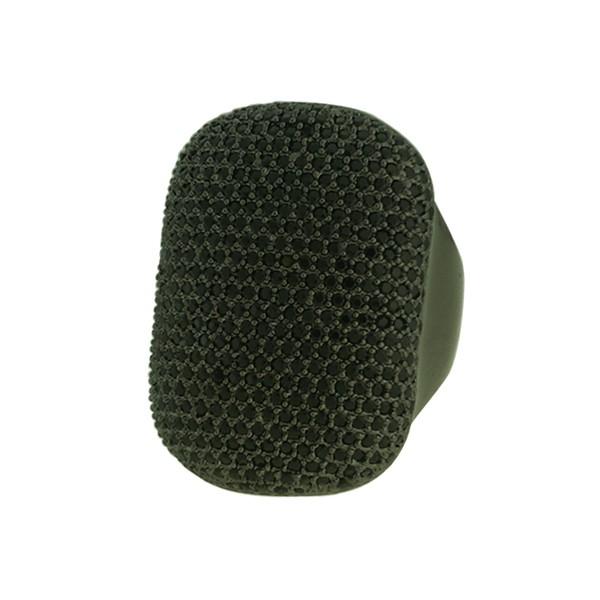 Anel Zircônia Lesprit LA05201BOBK Ródio Negro Preto