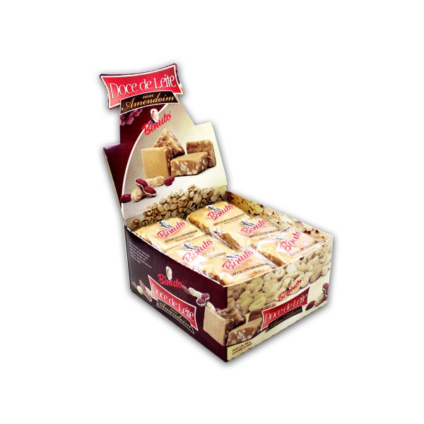 Doce de Leite com Amendoim 5 Caixas com 18 unidades cada