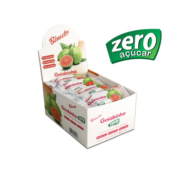 Goiabada sem Açúcar Diet Kit 4 caixas com 16 unidades cada