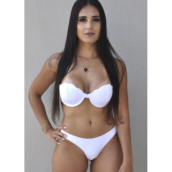 Biquini Concha larissa Branco