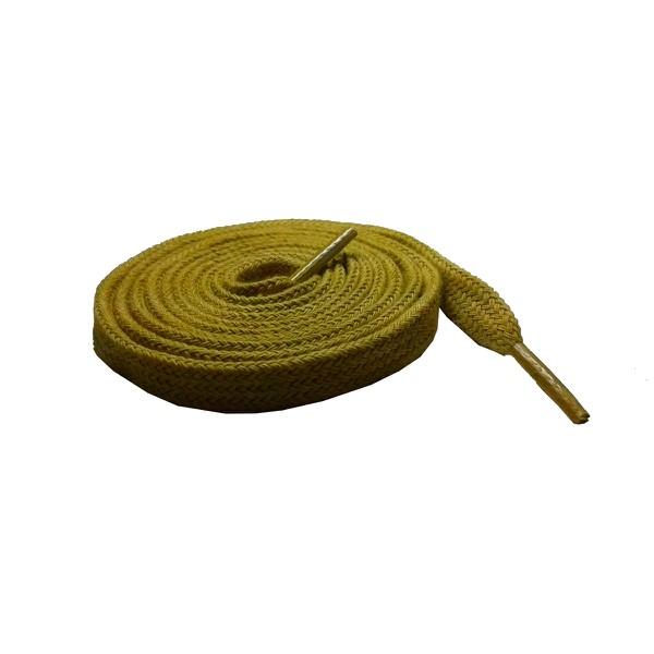 Cadarço Chato Algodão De 1,40 Cm e 10 Milímetros de Largura Amarelo