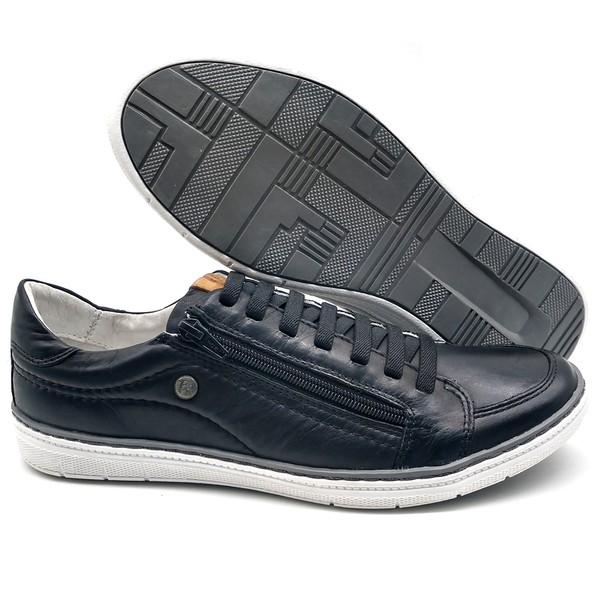 Sapatos CASUAL Masculino de Couro BMBRASIL SAPATENIS 608/04 Preto