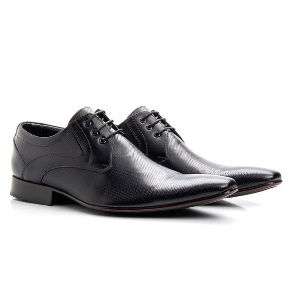 Sapato Clássico Masculino De Amarrar Mouro Solado De Couro