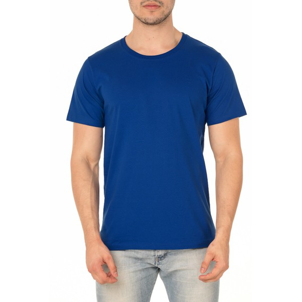 Camiseta Masculina 100% Algodão - Azul