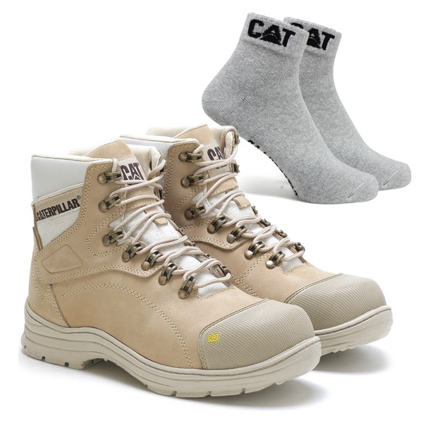 Bota Caterpillar 9820 - Nude + Meia Cat