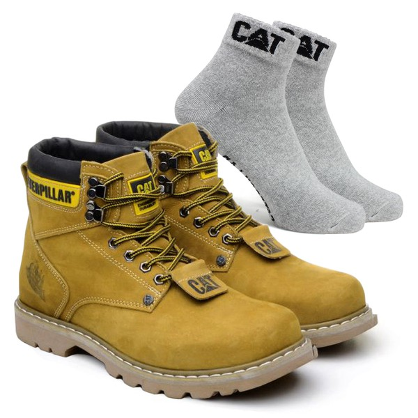 Bota Caterpillar Second Shift - Milho + Meia Cat