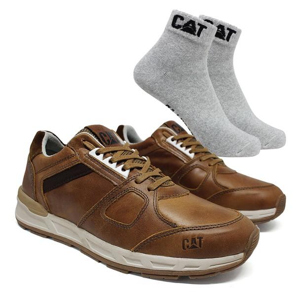 Tênis CAT WoodWard - Cevada + Meia Cat