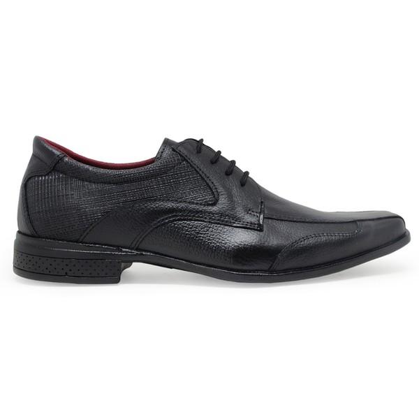 Sapato Social Couro Automotivo - Preto