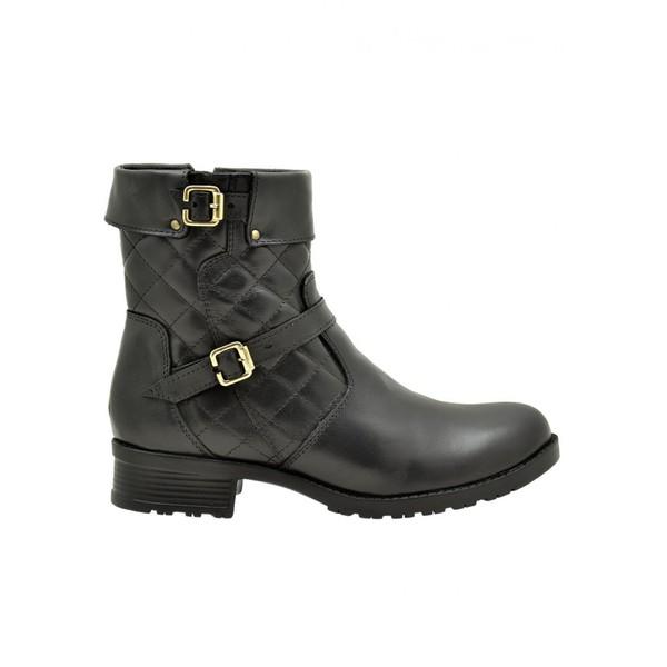 Coturno Feminino Atron Shoes Preto