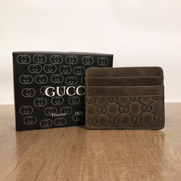 Porta Cartão Gucci - Marrom Escuro