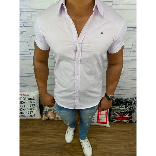 Camisa Manga Curta Tommy - Lilas