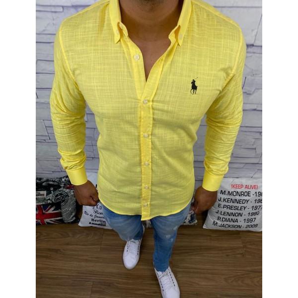 Camisa Manga Longa Ralph Lauren - Amarela