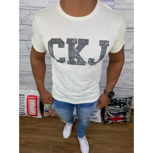 Camiseta Calvin Klein - Creme