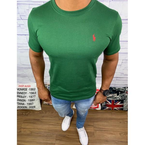 Camiseta Ralph Lauren - Verde Logo Vermelho