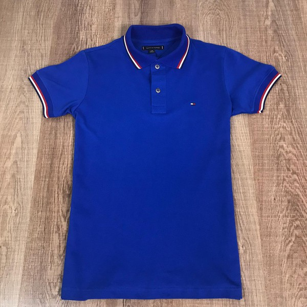 Polo Tommy - Azul Bic