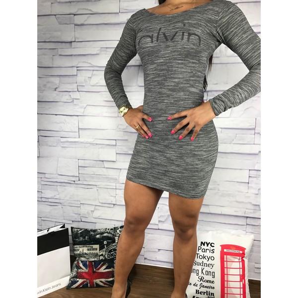 Vestido Calvin Klein - chumbo