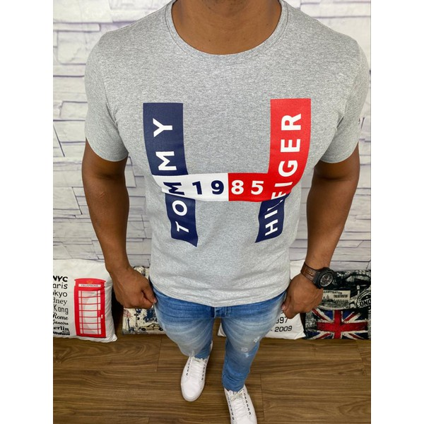 Camiseta Tommy Hilfiger - Cinza