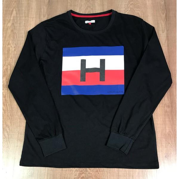 Camiseta Manga Longa Tommy Hilfiger - Preta