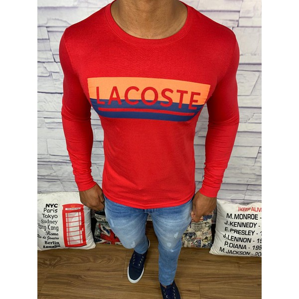 Camiseta Manga Longa Lacoste - Vermelha