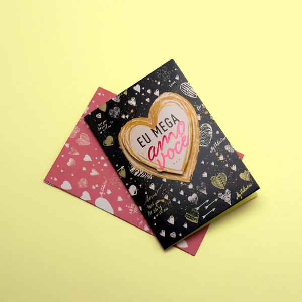 Cartão Mega Amo Você...