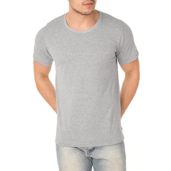 Camiseta Masculina 100% Algodão - Cinza Mescla