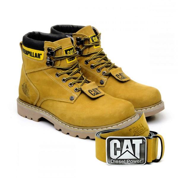 Bota Caterpillar Second Shift Boot + Cinto Couro - Milho
