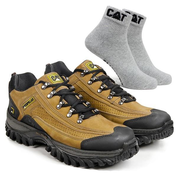 Tênis Caterpillar 2085 Milho + Meia Cinza CAT