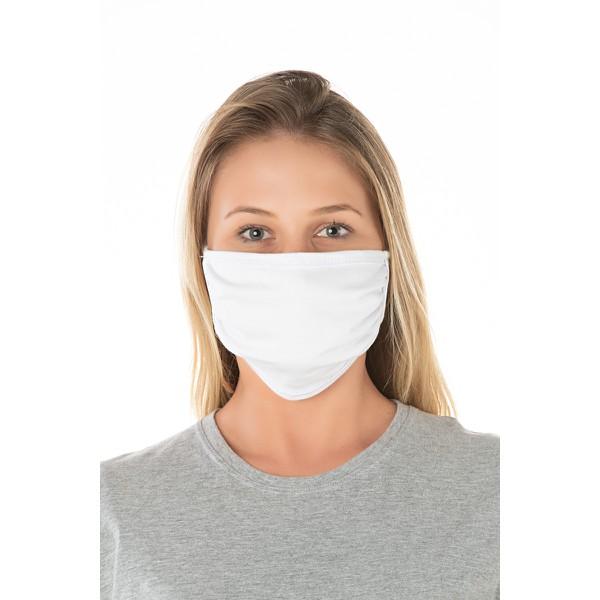 Kit 6 Máscaras de Proteção Dupla Reutilizavel 100% Algodão - Branca