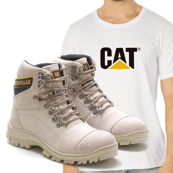 Bota Caterpillar 2061 - Nude + Camiseta