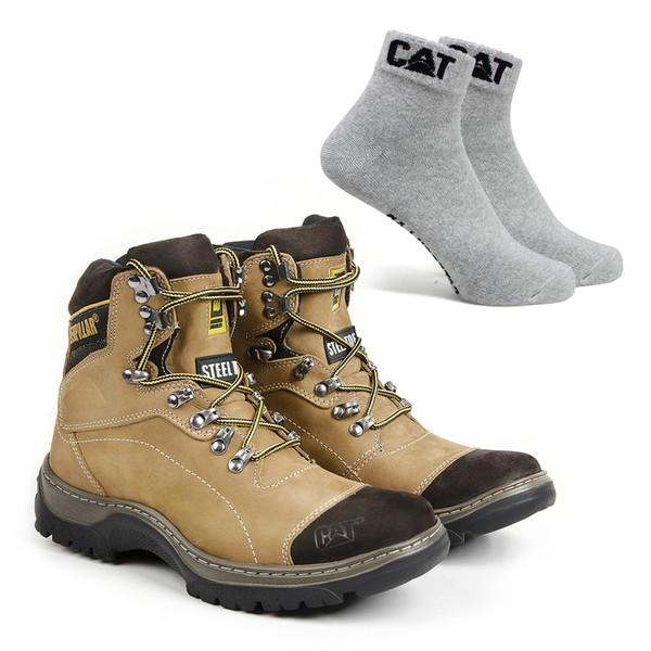 Bota Caterpillar 2061 - Milho + Meia Cat