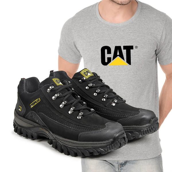 Tênis Caterpillar 2085 - Preto + Camiseta Cat