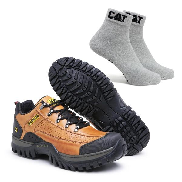 Tênis Caterpillar 2085 - Cevada + Meia Cinza CAT