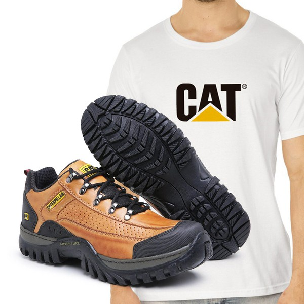 Tênis Caterpillar 2085 - Cevada + Camiseta Cat