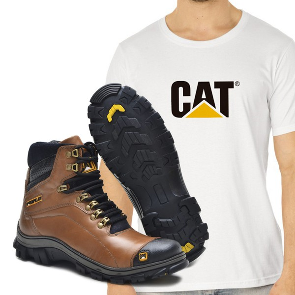 Bota Caterpillar 2160 - Avela + Camiseta Cat