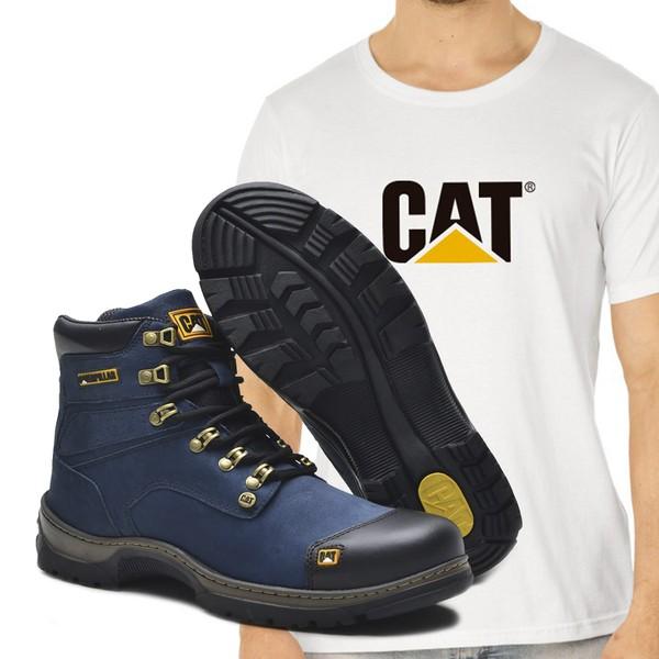 Bota Caterpillar 2189 - Azul + Camiseta Cat