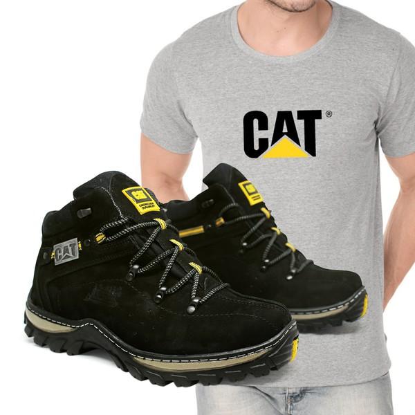 Bota Adventure CAT Experience - Preto + Camiseta Cat