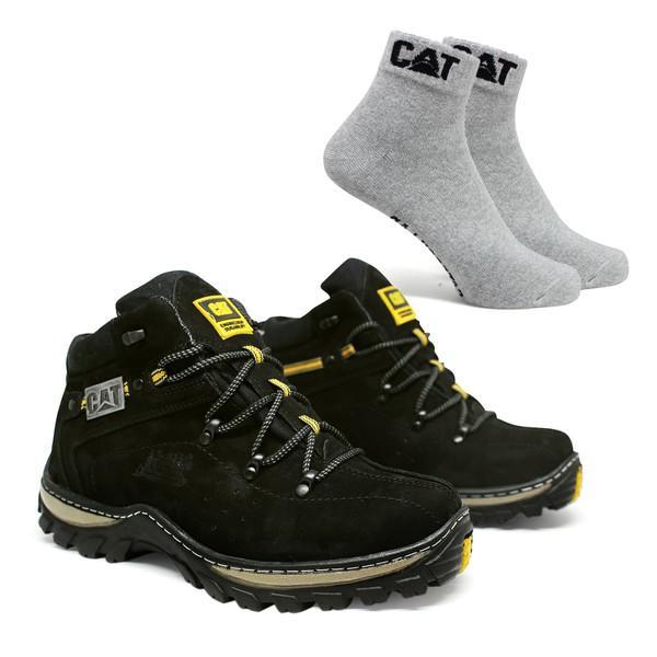 Bota Adventure CAT Experience - Preto + Meia Cat Cinza