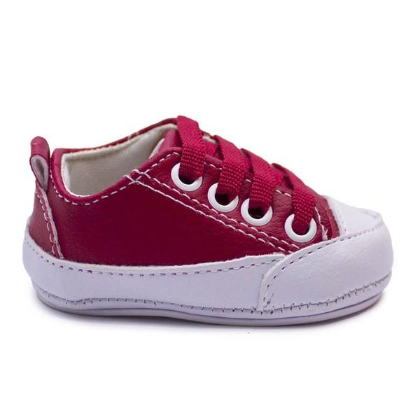 Tênis Infantil Baby Way c/ Cadarço - Vermelho / Branco