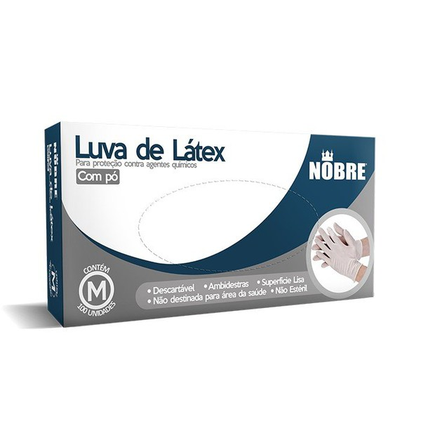 LUVA VINIL COM PO C/100 PCS (G) PROTECAO AGENTES QUIMICOS