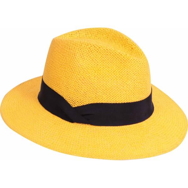 Chapéu Pralana Fedora Color Amarelo