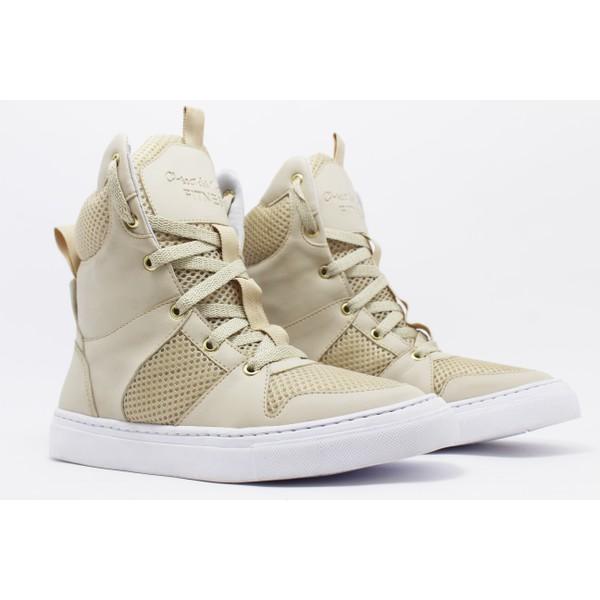 Tênis Sneaker Fitness Cheia de Marra Creme
