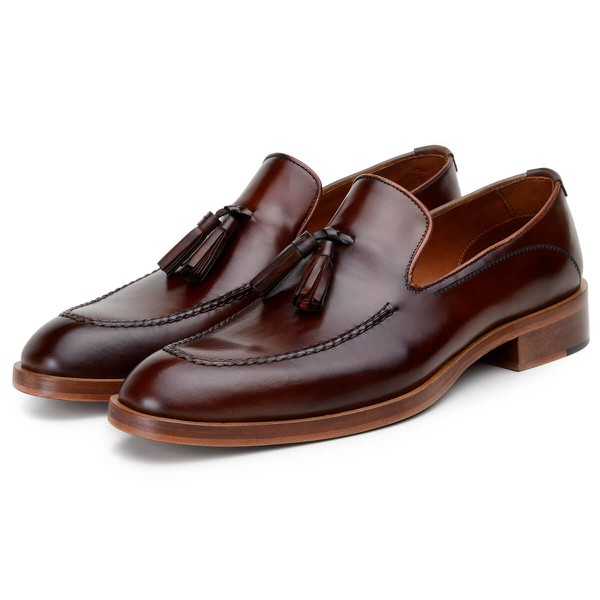 Sapato Social Masculino Loafer CNS Holl Whisky