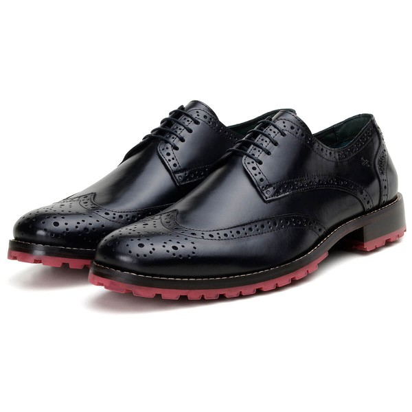 Sapato Casual Masculino Derby CNS Brogue Stan Preto