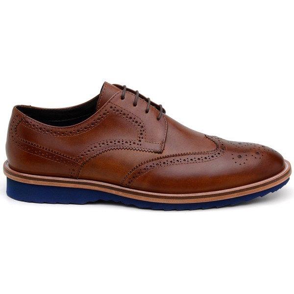 Sapato Casual Masculino Derby CNS Brogue 341006 Whisky