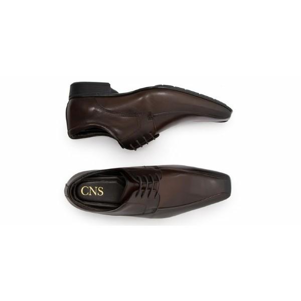 Sapato Social Masculino Derby CNS 40062 Dark Brown