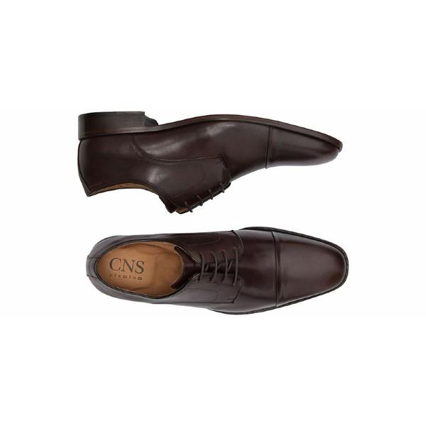 Sapato Social Masculino Derby CNS Pie 001 Castanho