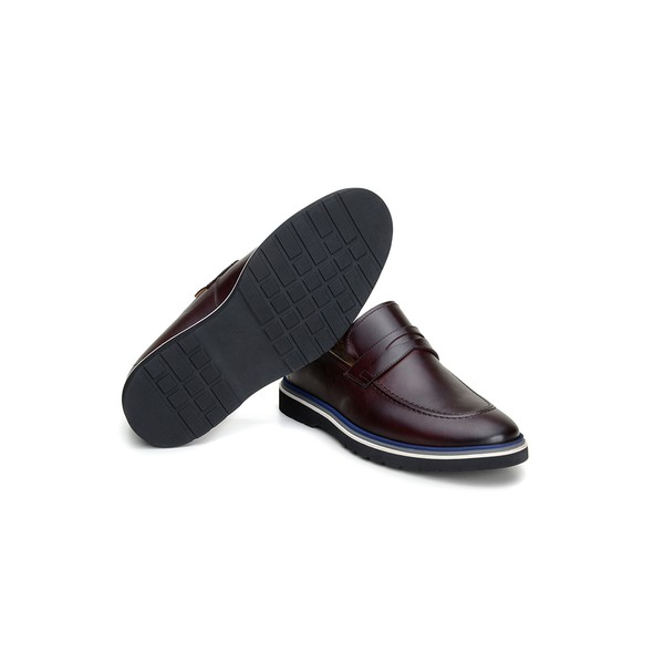 Sapato Casual Masculino Mocassim CNS Wish 02 Vinho