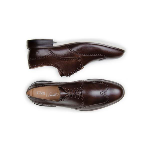 Sapato Casual Masculino Derby CNS Brogue 340016 Café