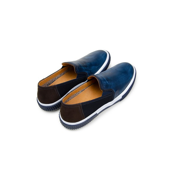 Tênis Casual Masculino Slip-on CNS Camino 05 Marinho e Dark Brown